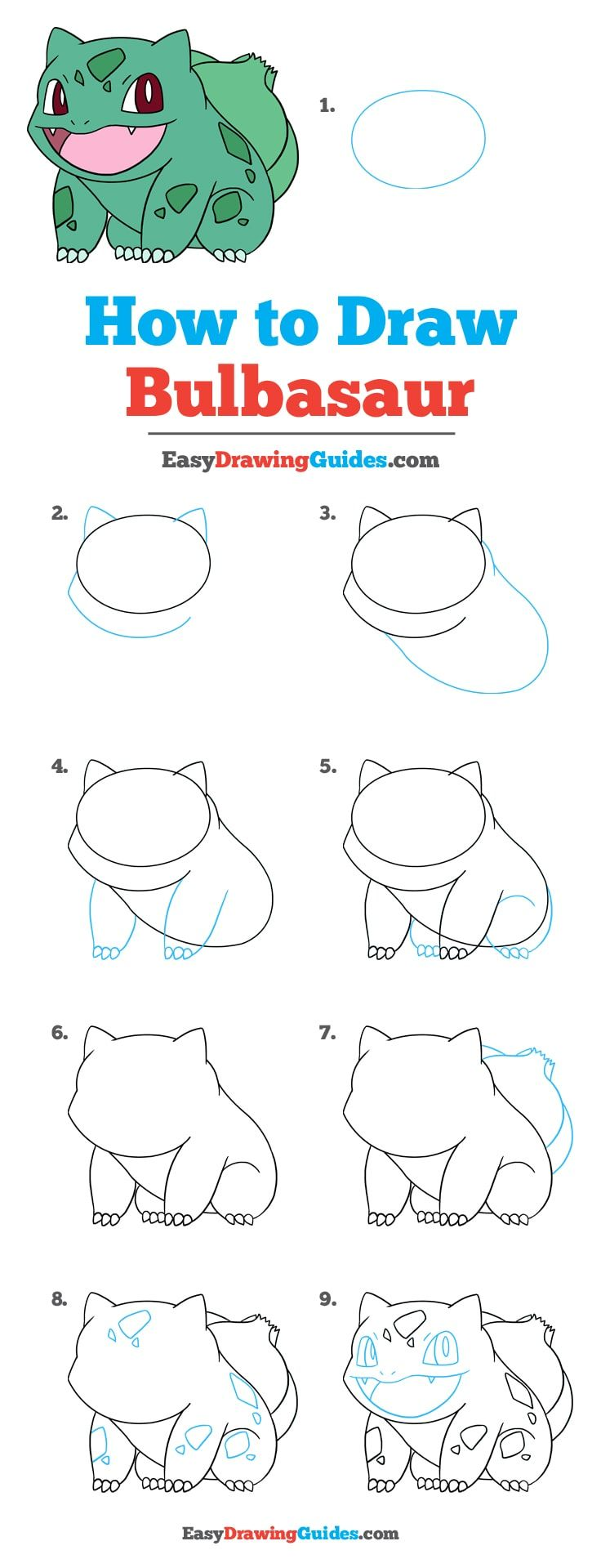 How To Draw Bulbasaur Pokemon Really Easy Drawing Tutorial Drawing Tutorials For Beginners Drawing Tutorial Easy Drawing Tutorial
