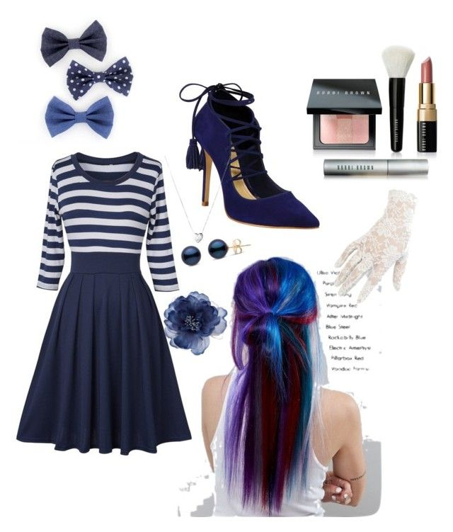 """""""navy's best"""" by cherralynray on Polyvore featuring Schutz, Manic Panic NYC, Bobbi Brown Cosmetics, Links of London, Accessorize and Black"""