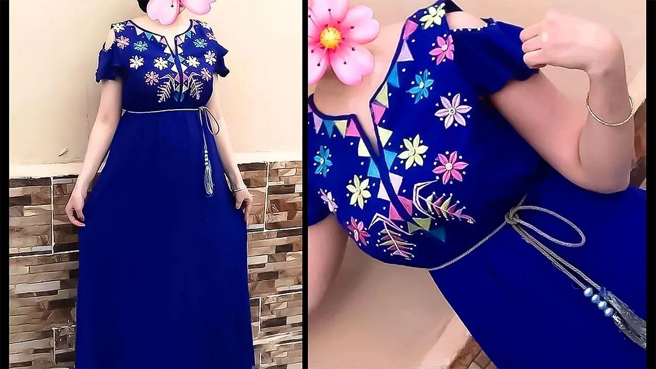 موديلات قنادرصيف 2021 توب أصبحت الموضة كبيرة هذه الأيام يسمح كل واحد منا عن قصد أو بغير قصد بأن يتأثر بآ In 2021 Fashion Short Sleeve Dresses Dresses With Sleeves