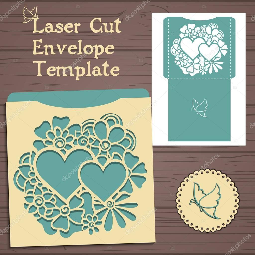 Descargar - Plantilla de invitación de boda de vectores de Lasercut ...