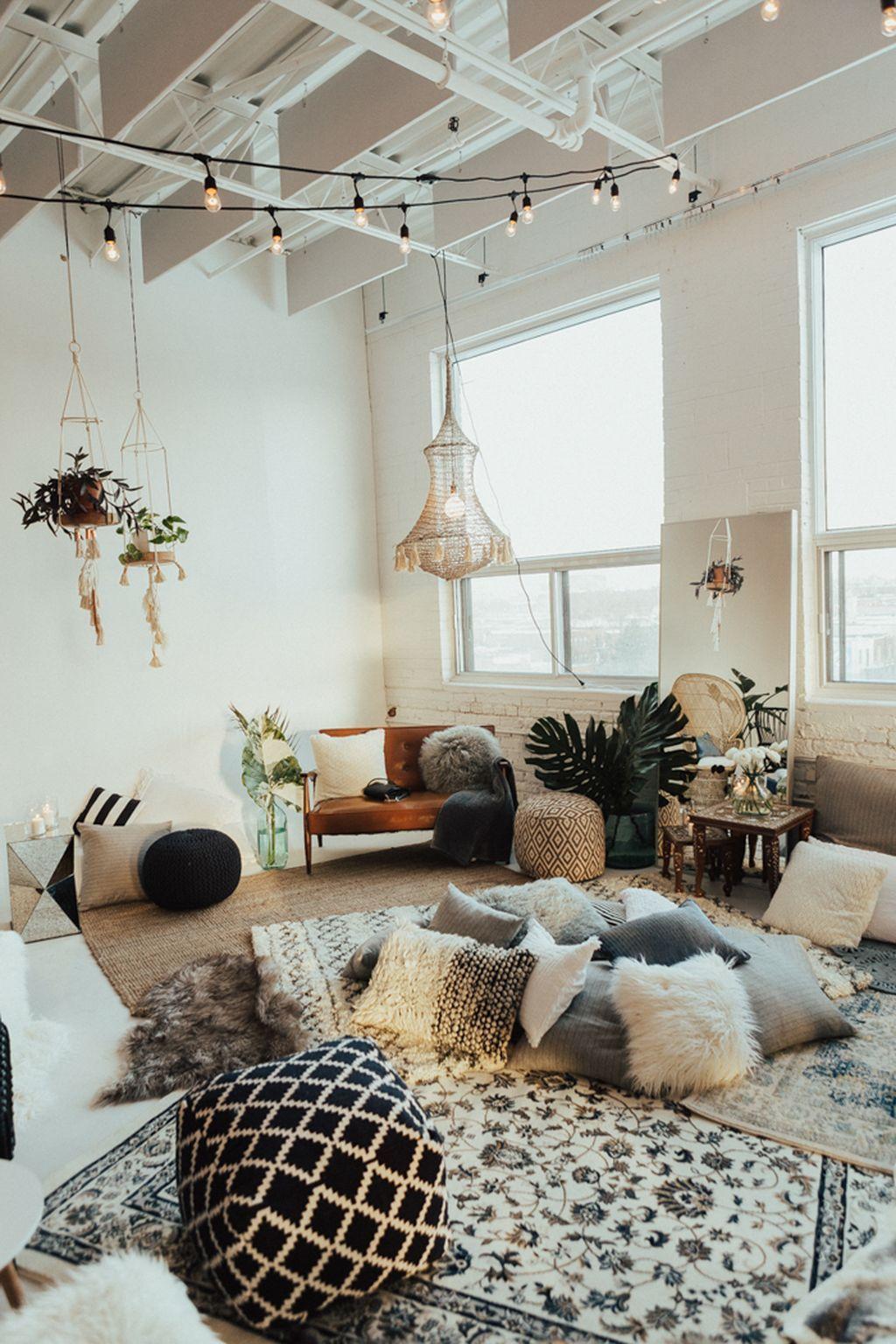 99 Modern Rustic Bohemian Living Room Design Ideas | Bohemian ...