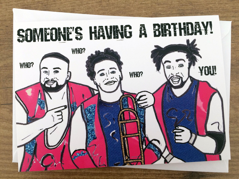 Someones Having A Birthday Wrestling New Day Inspired Card