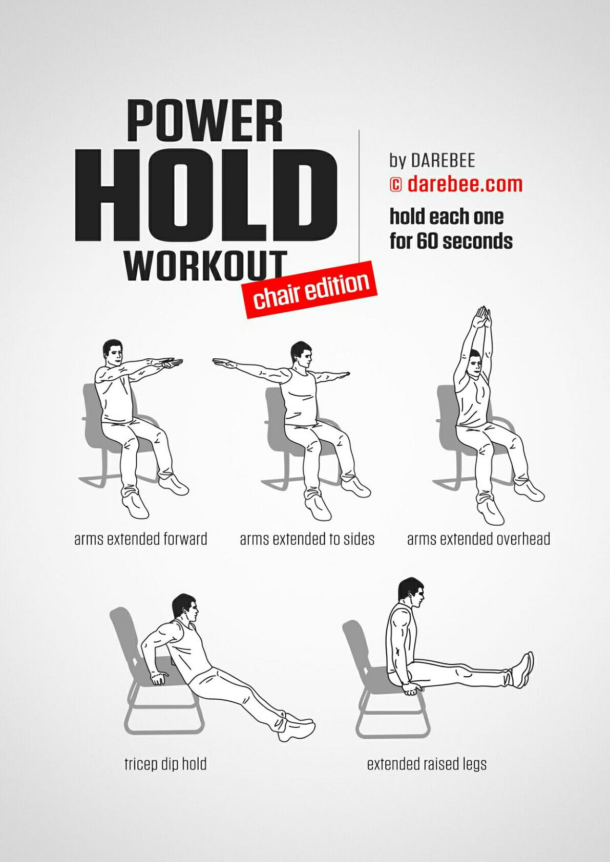Chair Exercises At Work Wine Barrel Adirondack Plans Power Hold Workout Posted By Advancedweightlosstips