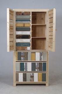 Work of the Dutch interiordesigner Piet Hein Eek.