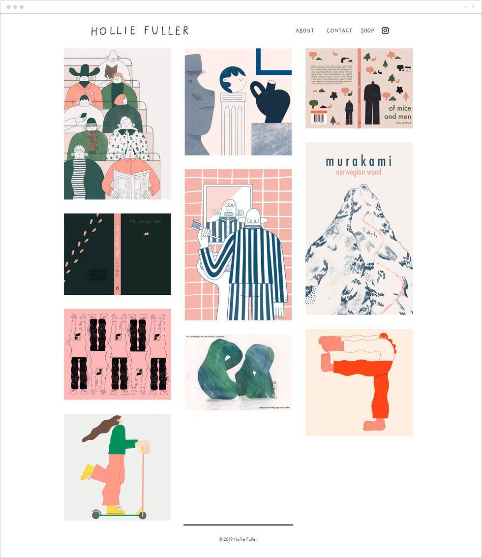 artist portfolio website design