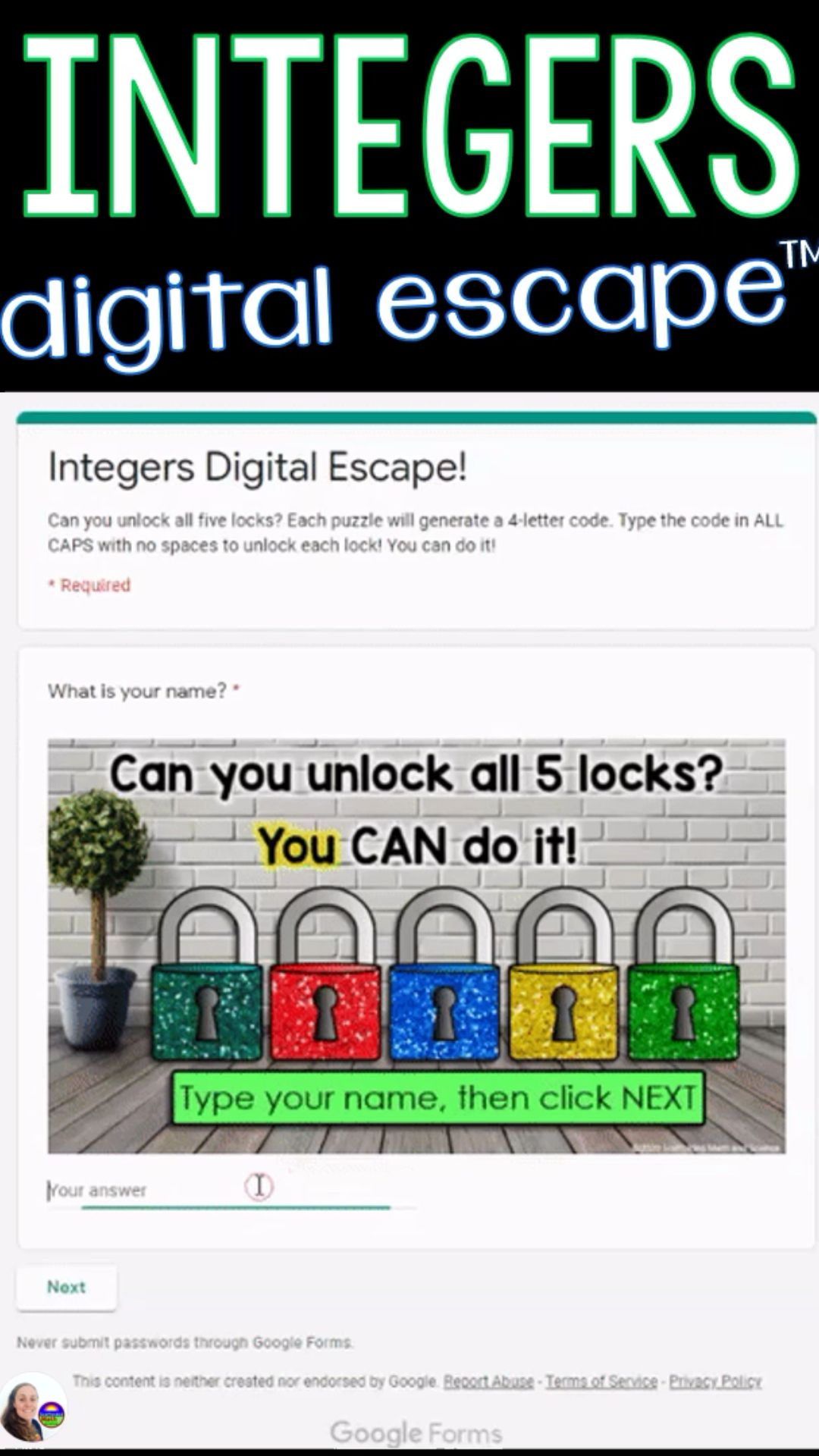 Integers Digital Escape Room An Immersive Guide By Scaffolded Math And Science Adding and subtracting integers escape