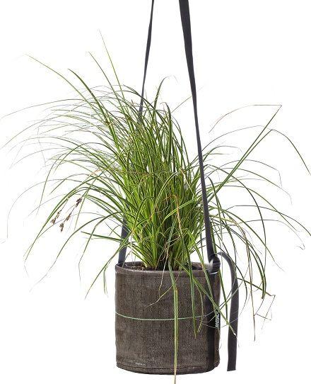 Idée déco design pour suspendre vos plantes : sac suspendu par des sangles Bacsac – Pot suspendu 10 L | Idée Cadeau Québec