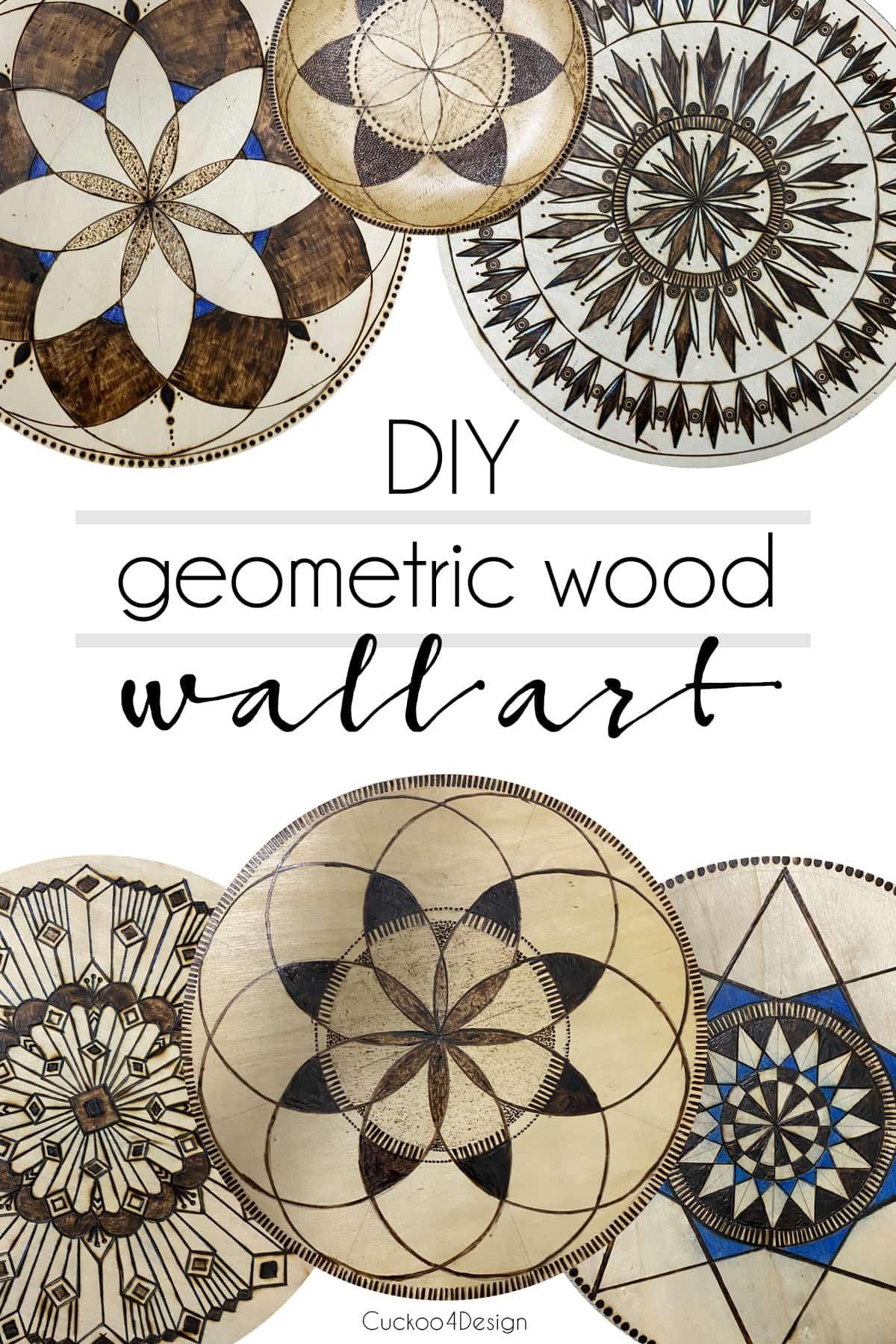 Diy geometric wood wall art wood wall art circle metal