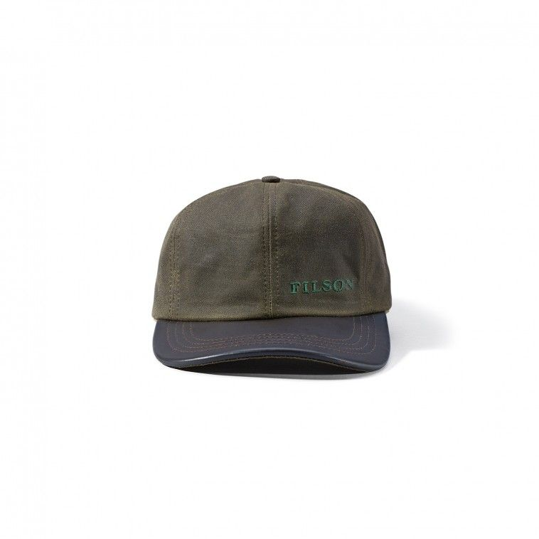 80ed892a5d3 Tin Cloth Leather Cap - Otter Green