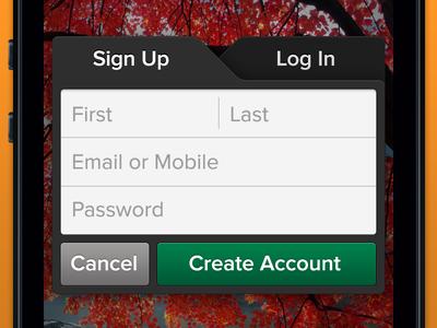 Sign Up Log In Modal For Ios App Ios App Ios App Design App