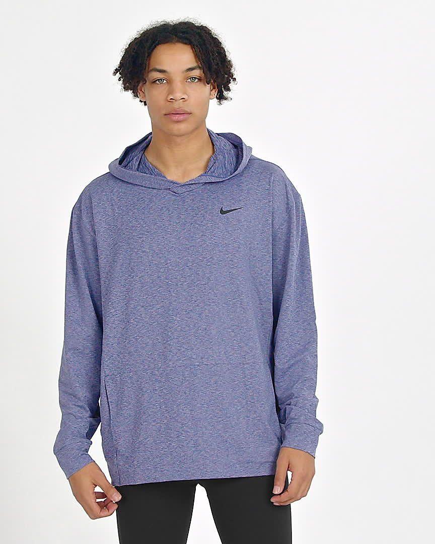 Nike Dri Fit Men S Pullover Long Sleeve Yoga Training Hoodie Nike Com Pullover Men Pullover Designs Workout Hoodie [ 1080 x 864 Pixel ]