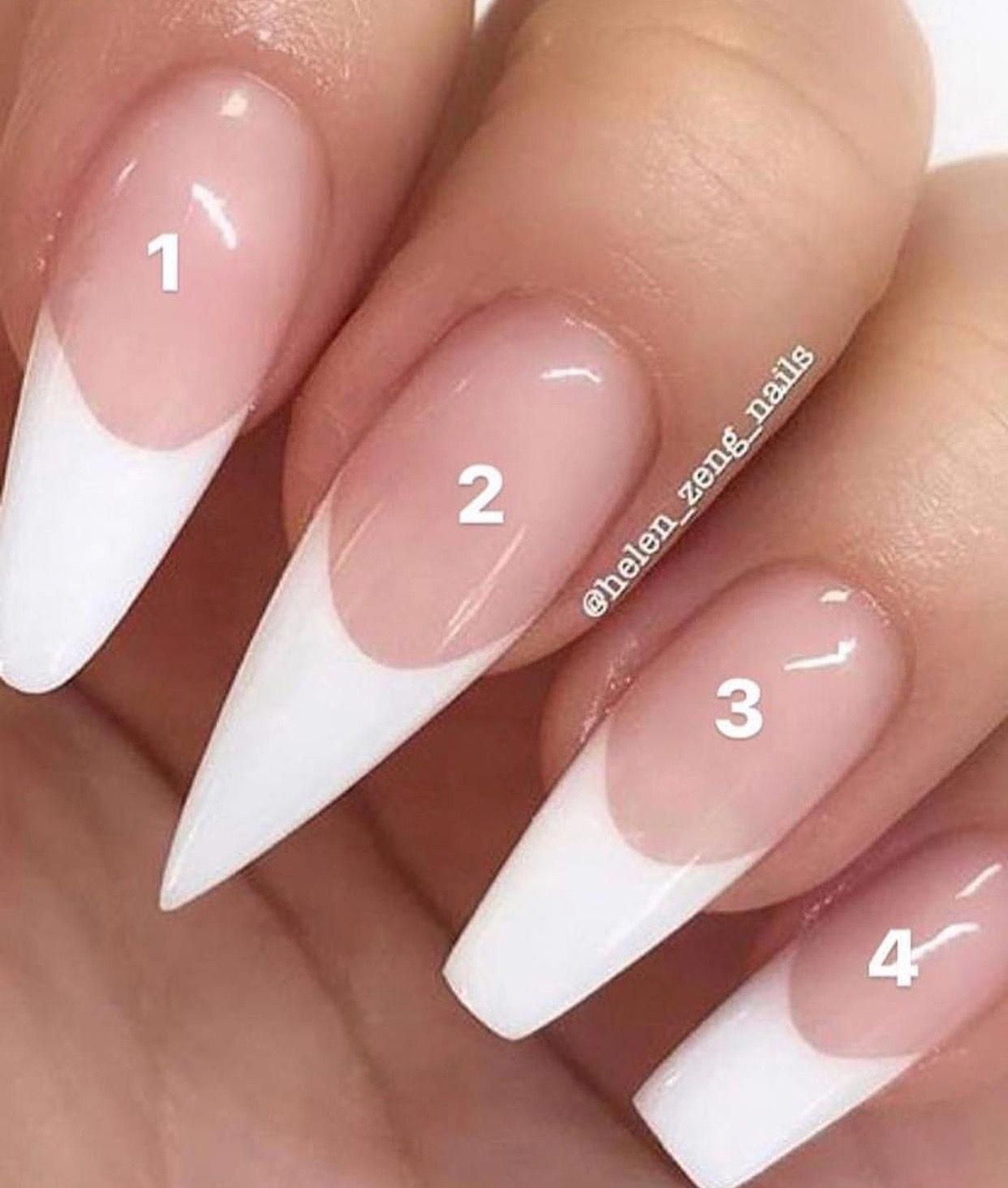 Acrylic Nail Styles Different Types Of Acrylic Nails Coffin Square Stiletto Rounded Nails Acrylic Nail Types White Tip Acrylic Nails Acrylic Nail Shapes