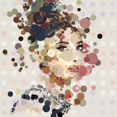 "Saatchi Art Artist Czar Catstick; Painting, ""'Holly GoSpotty' - Audrey Hepburn Portrait Edition #2 of only 20"" #art"