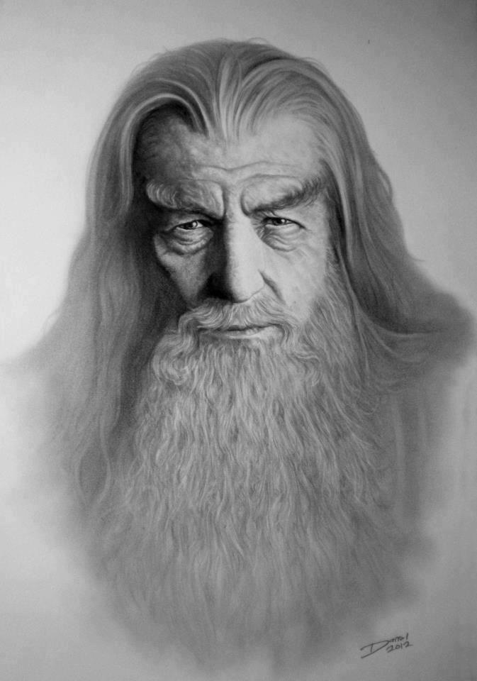Gandalf graphite   Tolkien\'s World   Pinterest   Señor, El señor y ...
