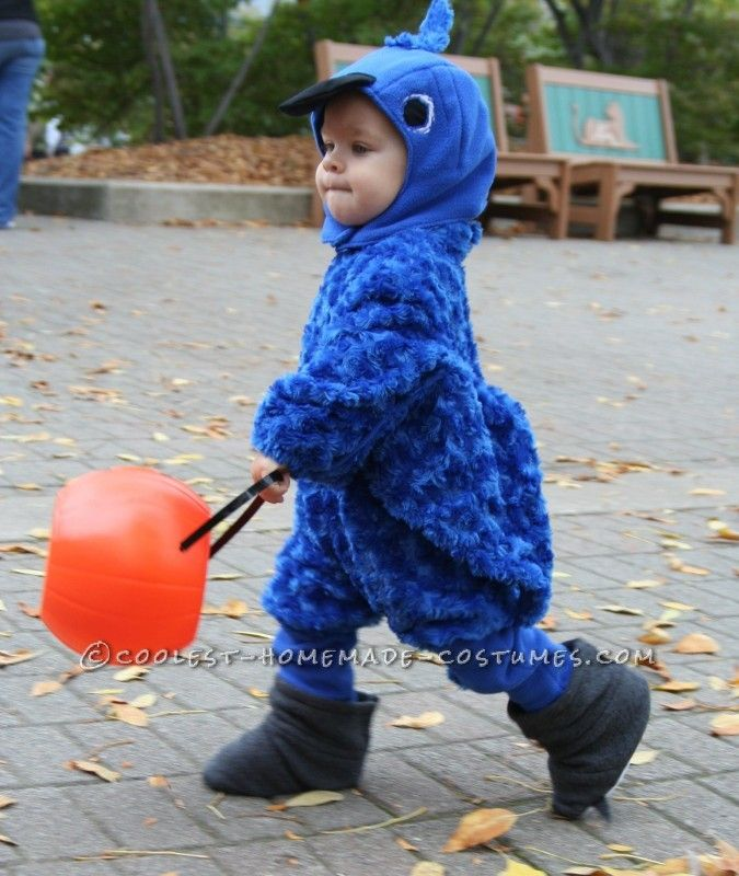 Coolest Homemade Baby Blue Macaw Costume Baby blue, Toddler - unique toddler halloween costume ideas