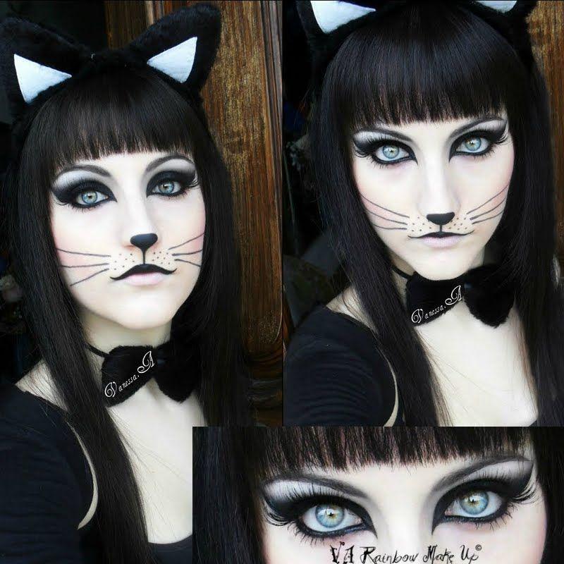15 Really Cool Halloween Make Up Ideas! Pinterest Halloween - cat halloween makeup ideas