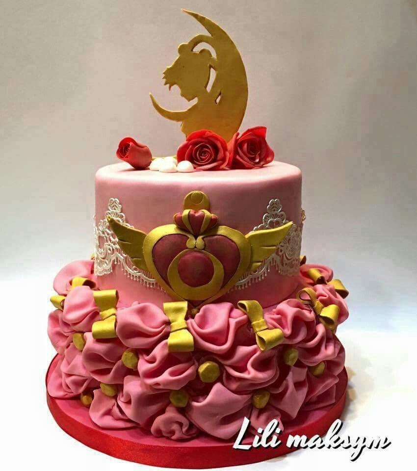 Enjoyable Sailor Moon Cake With Images Sailor Moon Cakes Anime Cake Personalised Birthday Cards Paralily Jamesorg