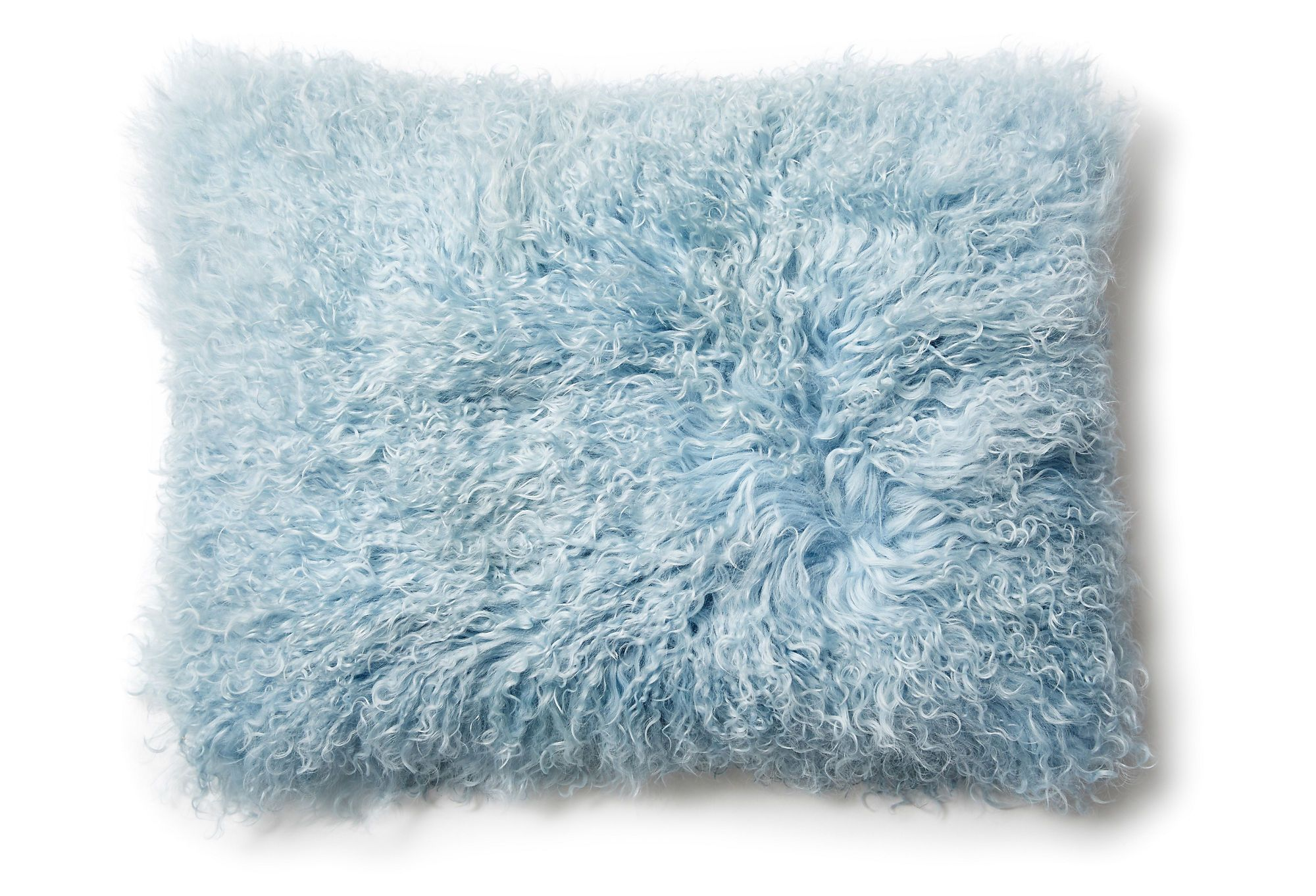 Mongolian Lumbar Pillow in Ice Blue from One Kings Lane Light