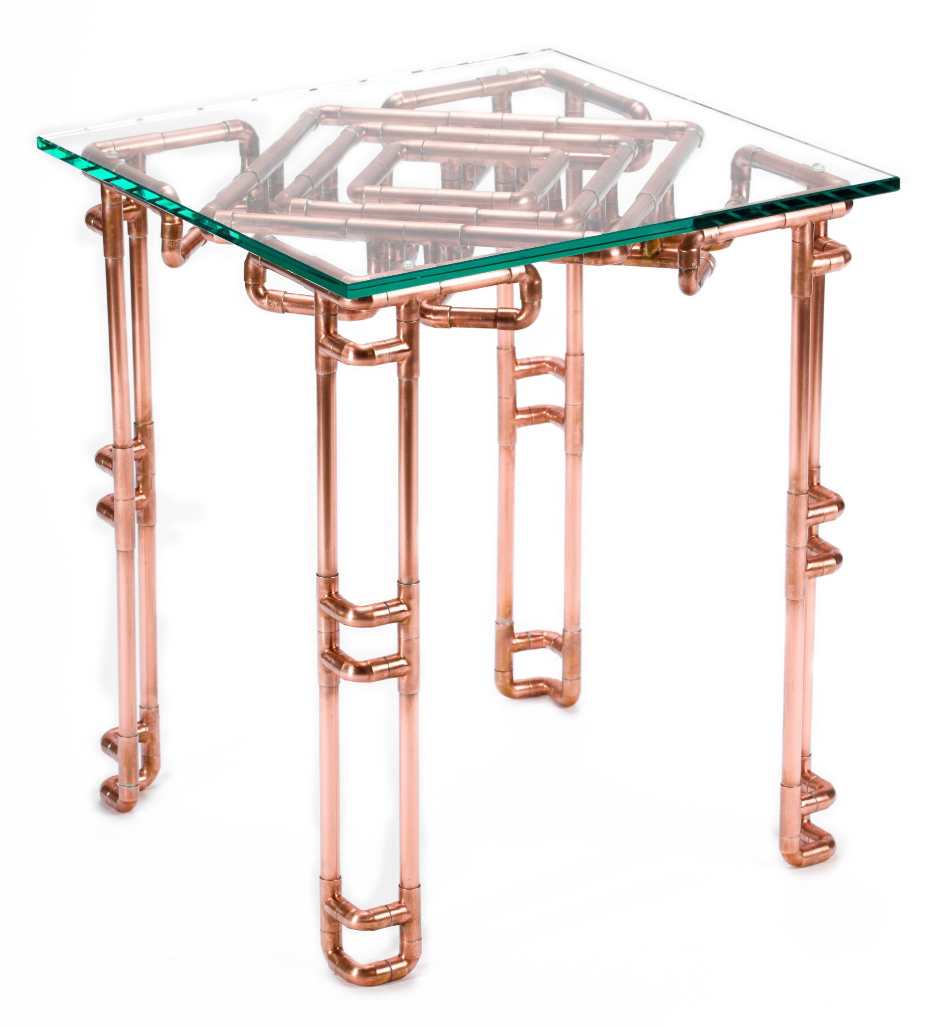 Copper pipe coffee table diy home pinterest pipes for Table y copper tube