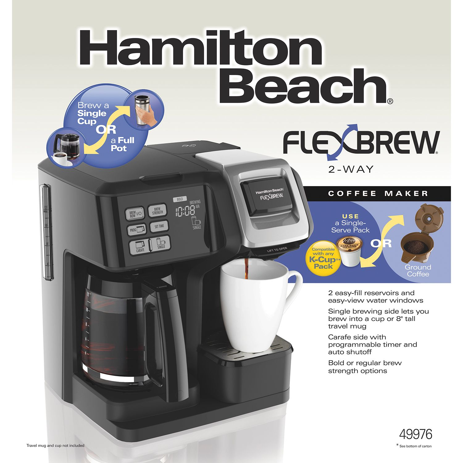 FlexBrew® 2Way Coffee Maker with 12Cup Carafe & Pod