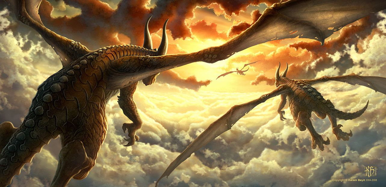 dragons flying off into the sunset my dragons pinterest dragon