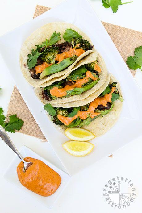 Chipotle, Black Bean, Roasted Veggie Tacos (v,gf) - Vegetarian Gastronomy