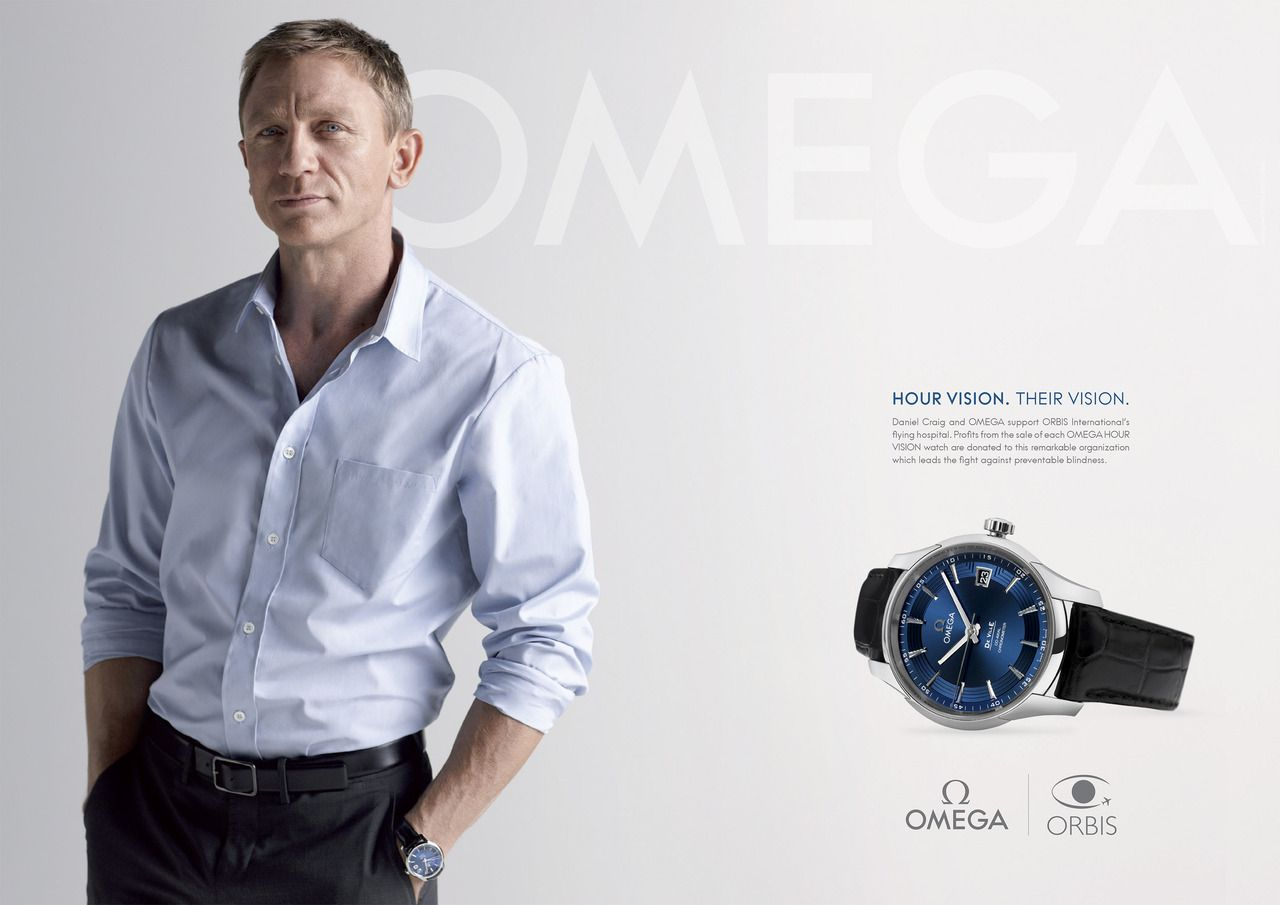 9793ccafbed Omega watch advertisement ... what better spokesman that James Bond ...