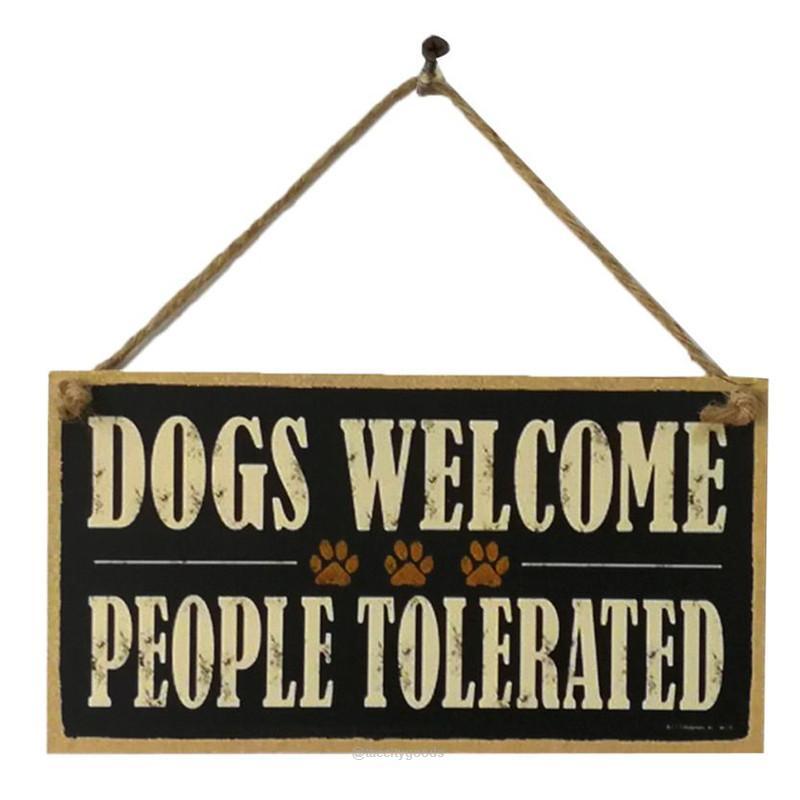 Wooden Door Dogs Welcome Sign Board With Images Wooden Door