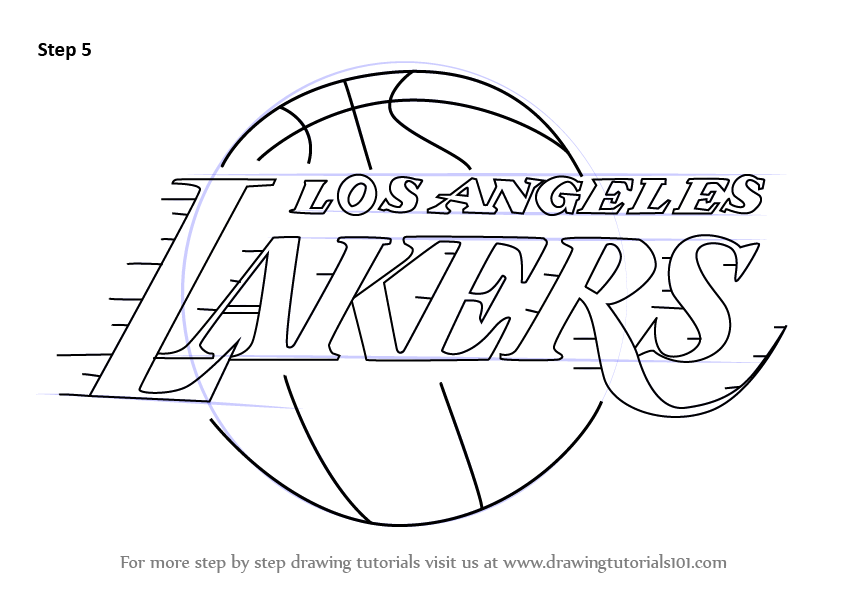 Learn How To Draw Los Angeles Lakers Logo Nba Step By Step Drawing Tutorials Los Angeles Lakers Logo Lakers Logo Los Angeles Lakers