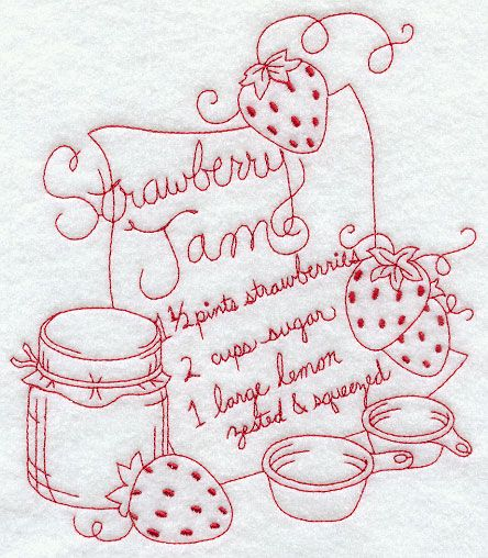 Strawberry Jam (Redwork)