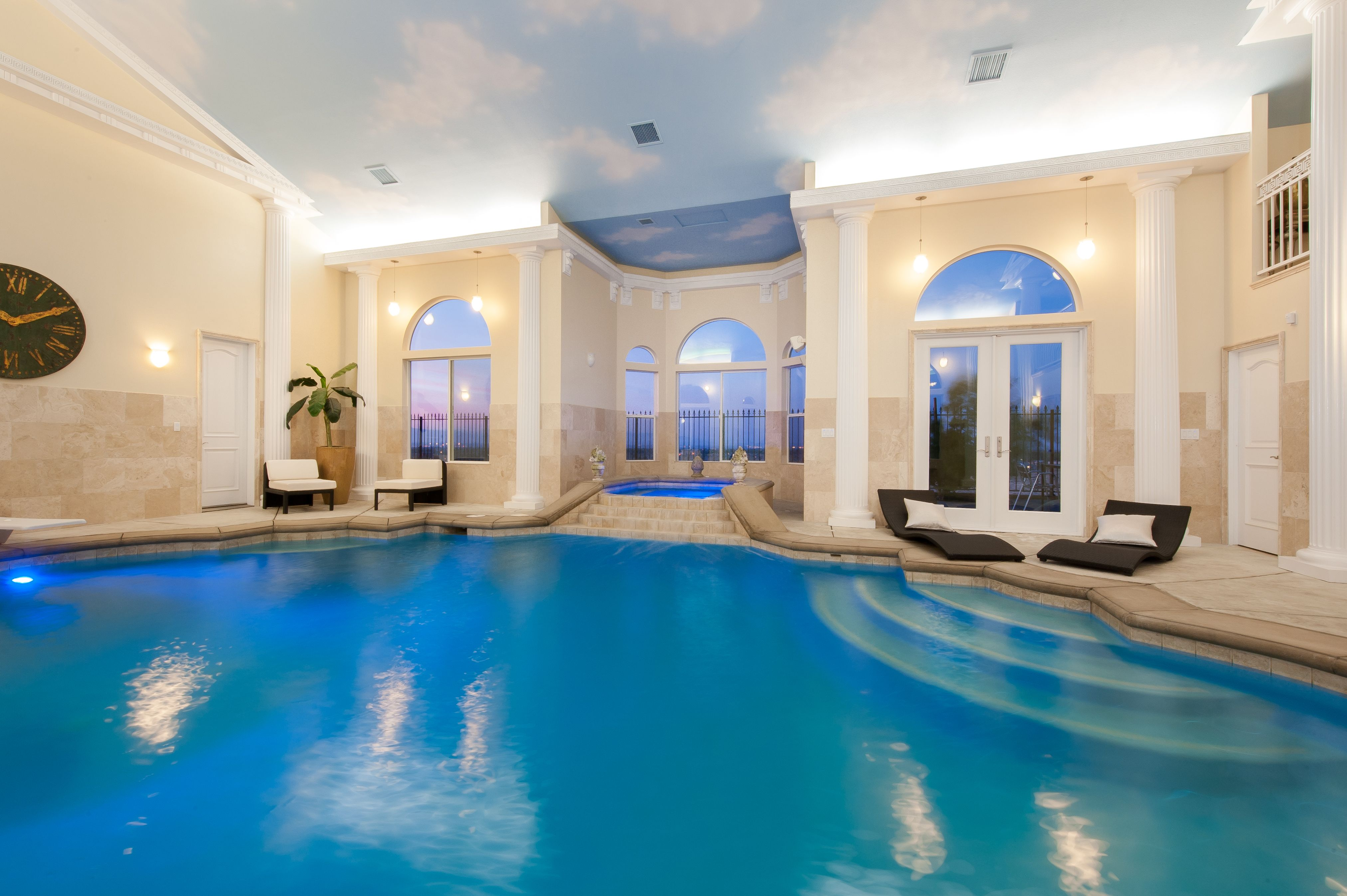 a roman bath-style pool a la ceasar's palace is the perfect place