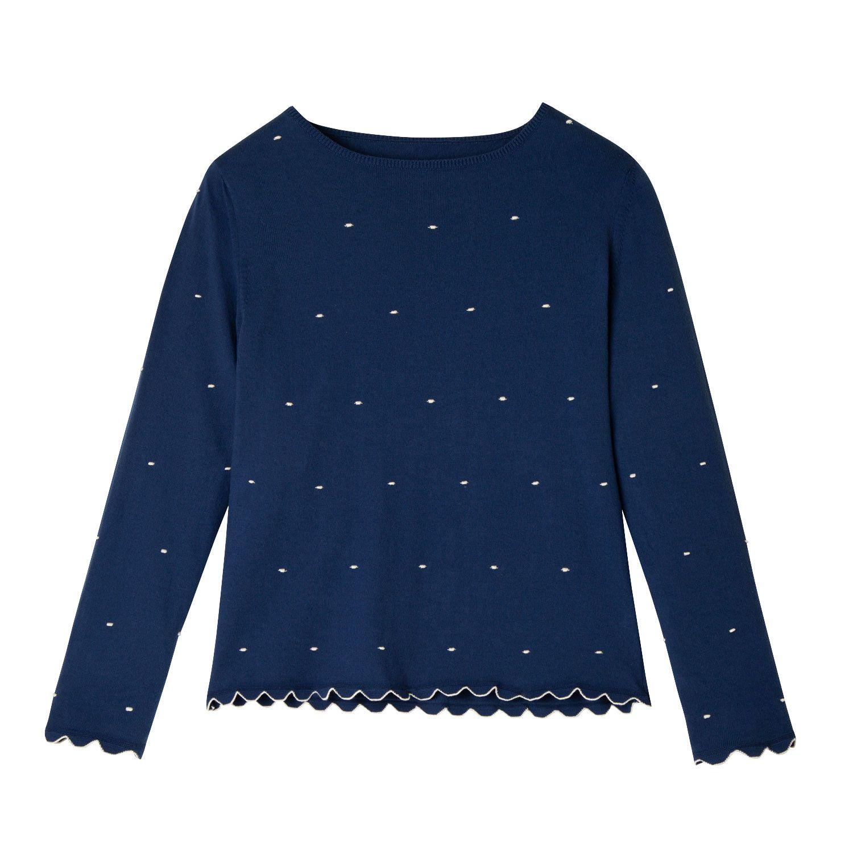 Enna Feinstrickpullover Mit Punktintasie Wildrose Gepunktet Feinstrickpullover Mode Online Kaufen Und Pullover
