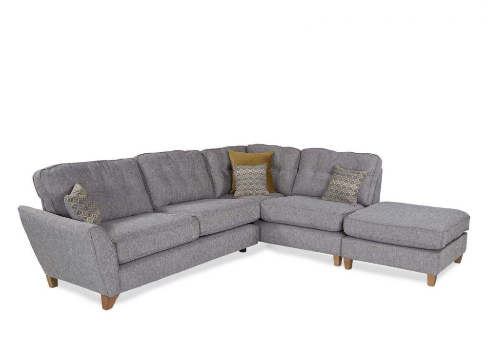 Left Arm Facing Grey Fabric Large Corner Chaise Aria Grey Chaise Sofa Chaise Sofa Grey Fabric Sofa