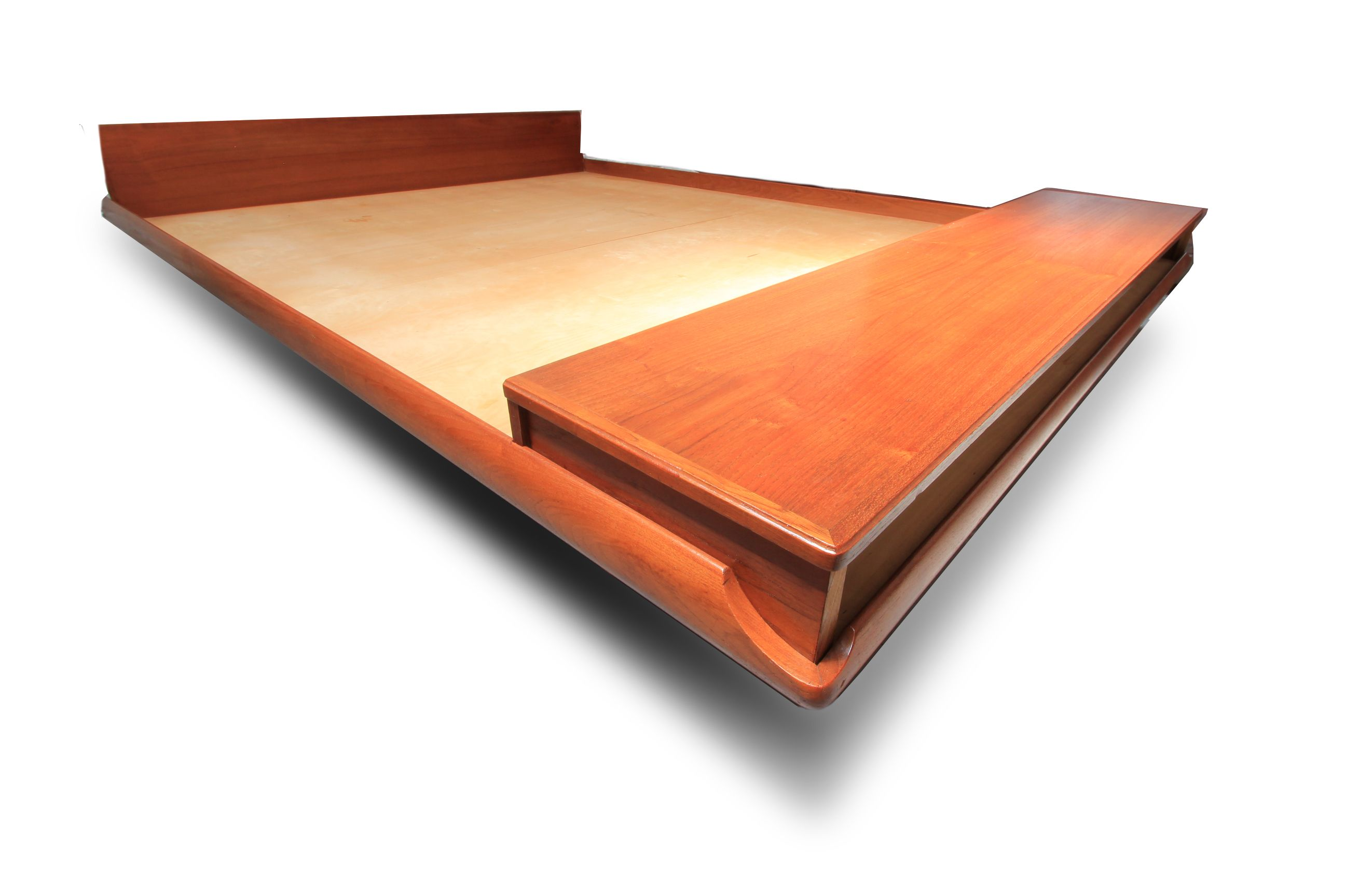 DANISH MODERN DESIGNER TEAK KING PLATFORM BED WITH STORAGE at www ...