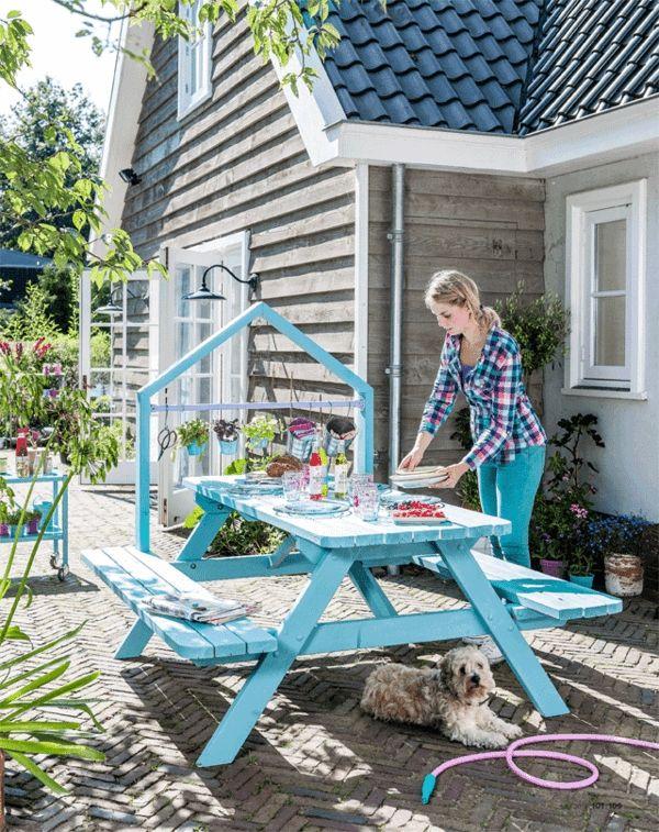Garten Tisch Selber Bauen Gartenmobel Farbe Streichen Basteln Und