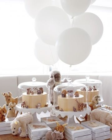 Learn how to make marzipan animals like those at Jude's first birthday party.