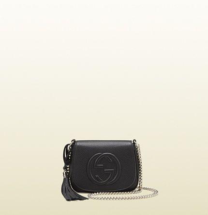 borsa a spalla soho in pelle con catena -Gucci-  7143c9212dd5