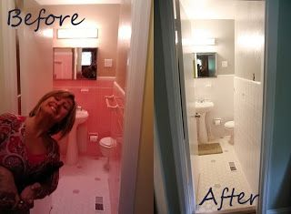 My Old Kentucky House: Temporary Insanity  Painting Bathroom Tile Before/ After