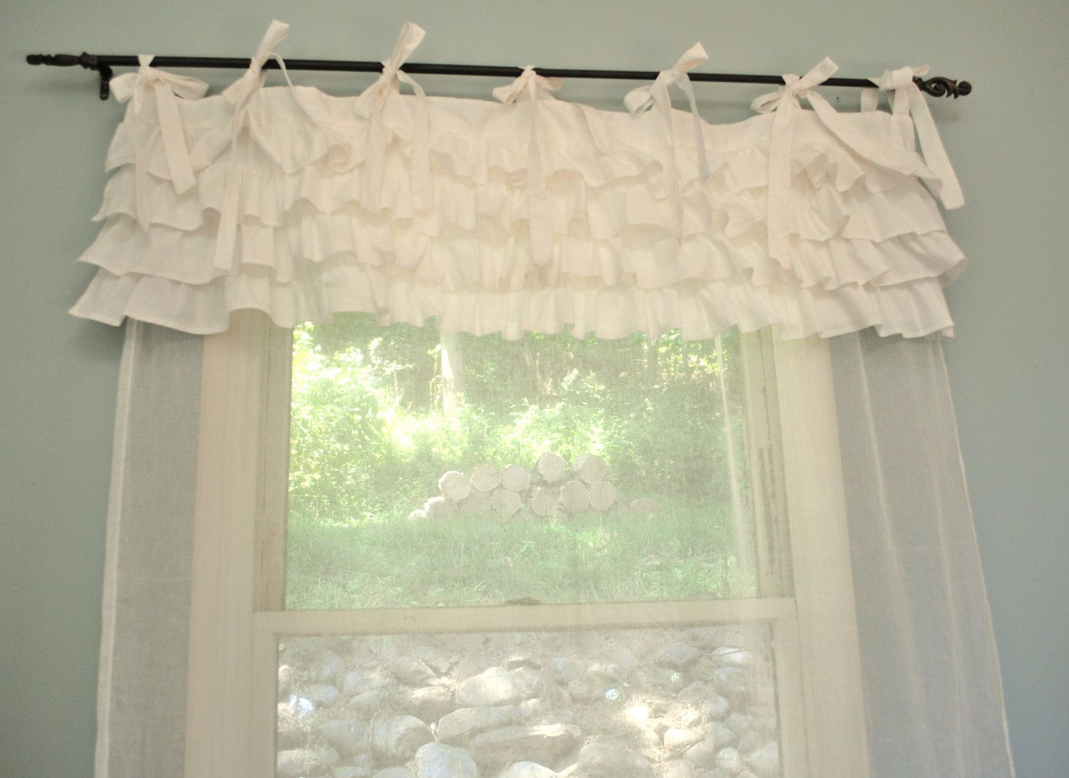 Shabby Chic Bedroom Curtains. $85.00, Via Etsy. Or...DIY Using