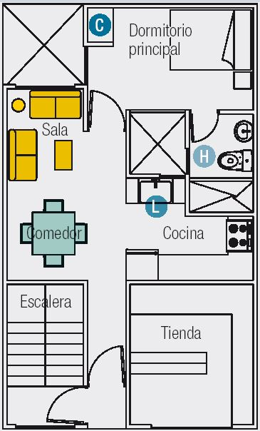 PLANOS DE 3 MINI DEPARTAMENTOS EN TERRENO DE 60M2 (6mx10m ...