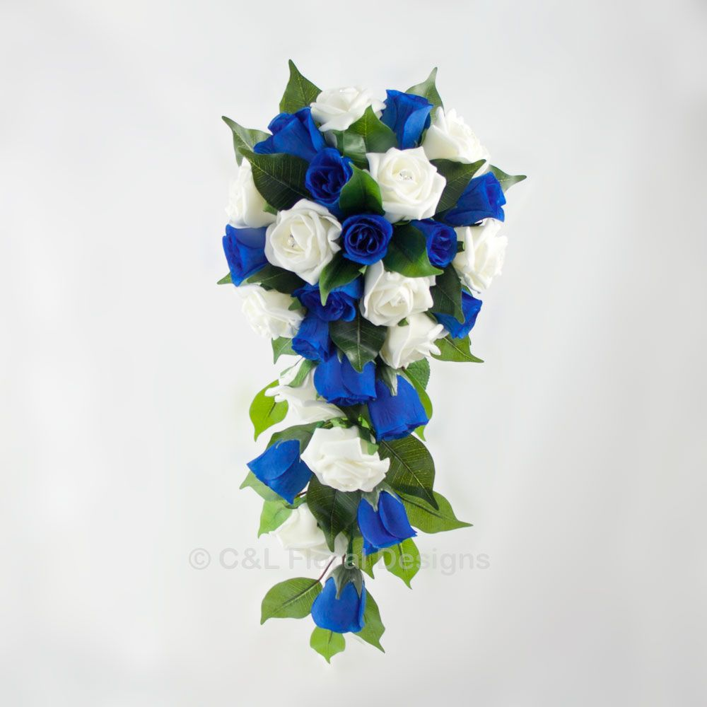 Royal Blue Wedding Centerpieces | Royal Blue and Ivory Bridal ...
