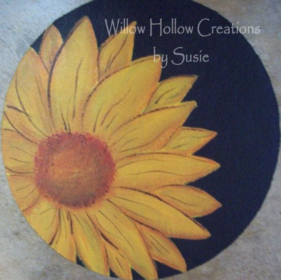 Reversible Candle Mat  sunflower and by WillowHollowCreation, $15.00