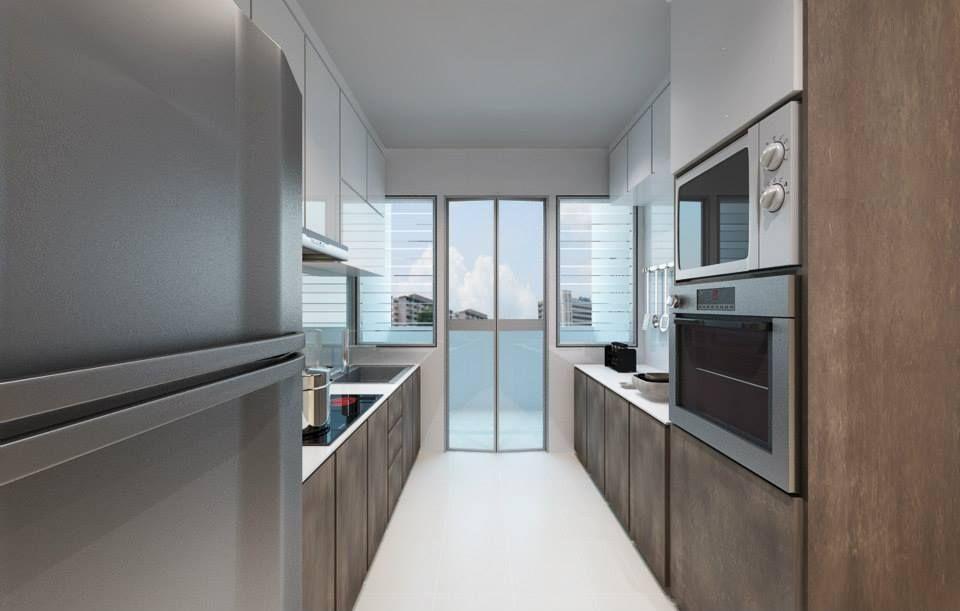 Aart boxx hdb bto 4 room anchorvale kitchen kitchen kitchen room interior design for Hdb wet and dry kitchen design