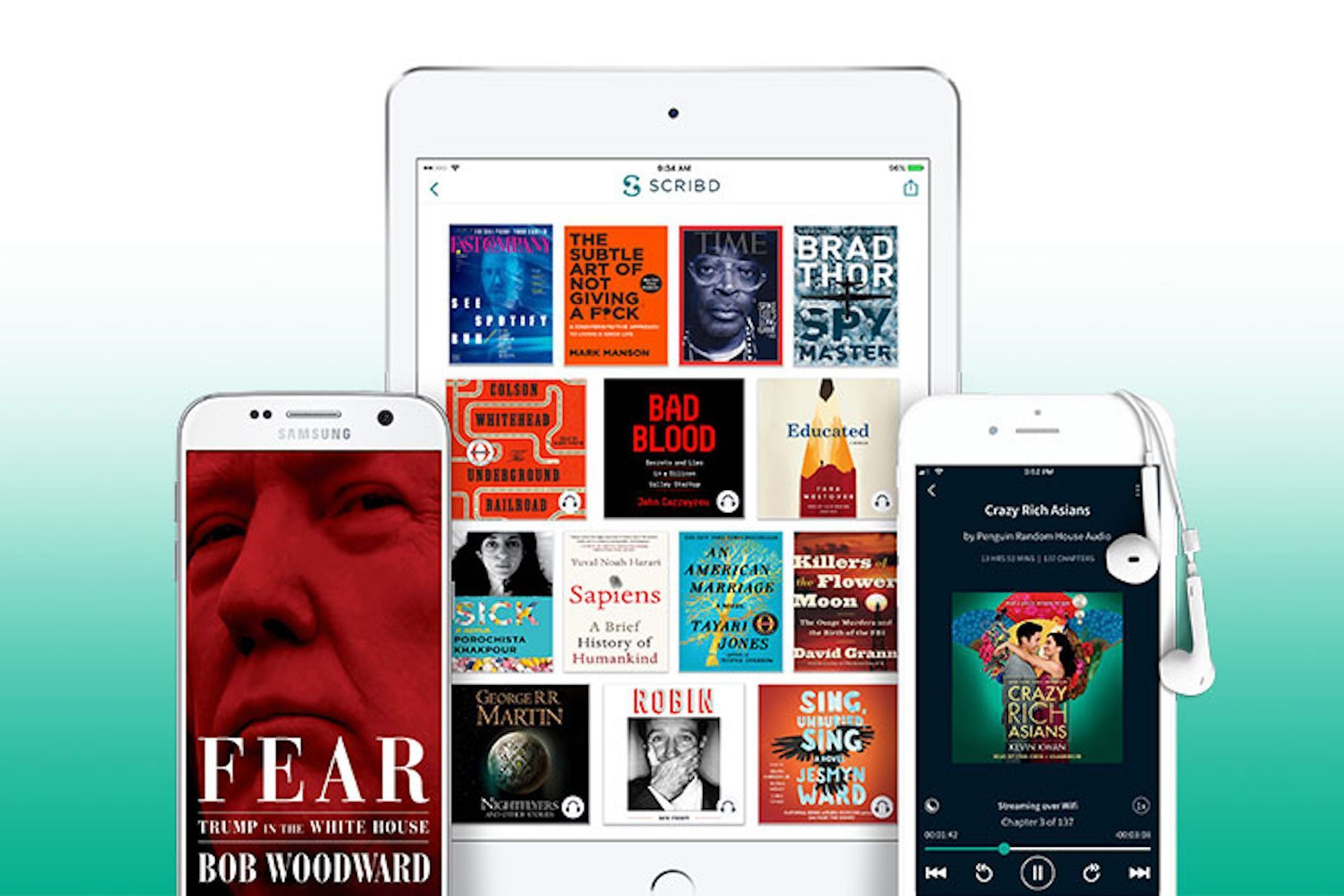 Access more than a million ebooks magazines and news