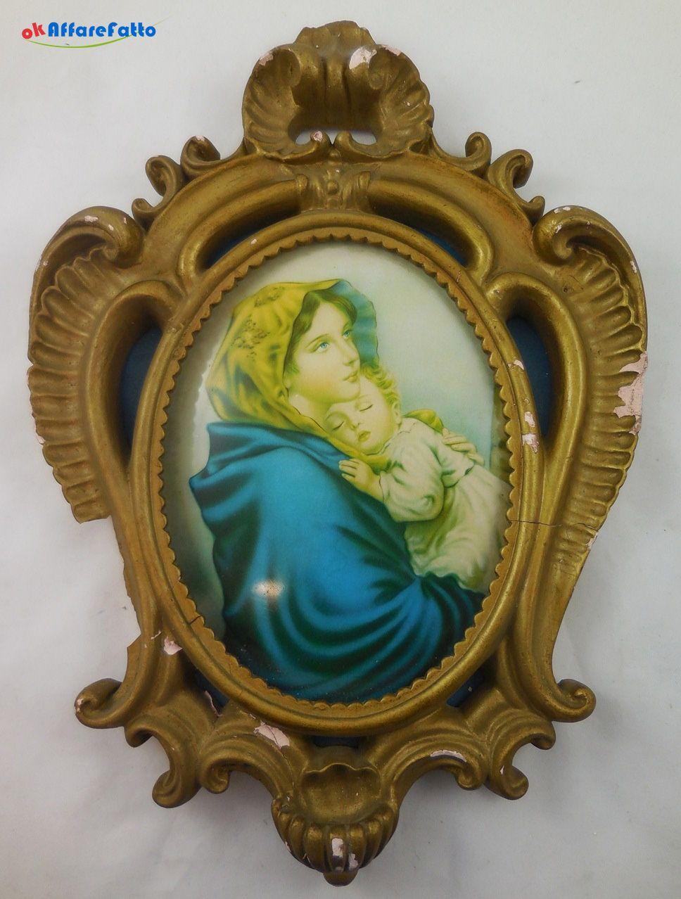 H 1011 QUADRO CAPOLETTO MADONNA CON BAMBINO IN BRACCIO - http://www.okaffarefattofrascati.com/?product=h-1011-quadro-capoletto-madonna-con-bambino-in-braccio
