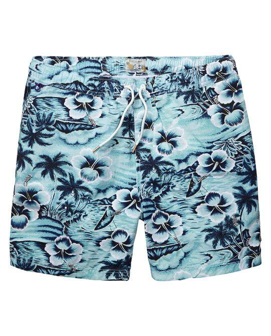 Zwembroek met all-over Hawaï-print