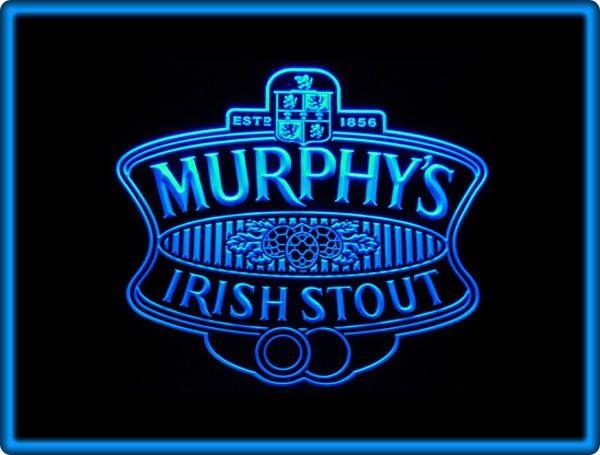 Murphys Irish Stout Beer Bar Pub Restaurant Neon Light