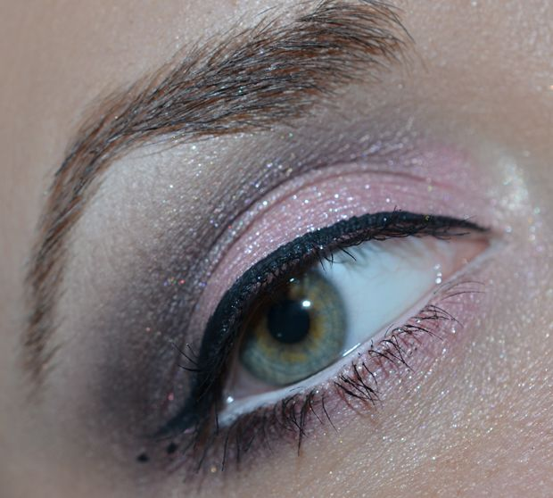 brown and soft pink makeup