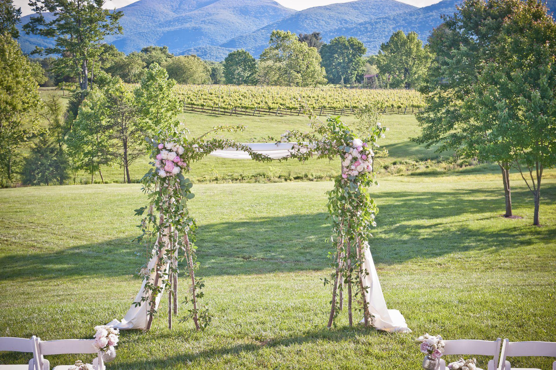 Romantic spring wedding at veritas vineyard afton va