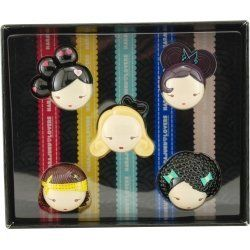 """Harajuku Lovers Solid Perfume Coffret by HARAJUKU LOVERS VARIETY. $28.19. Set-5 Piece Mini Variety With Baby & Lil' Angel & """"g"""" & Love & Music And All Are Parfum Solid Minis. Your satisfaction is guaranteed when you buy the Gwen Stefani Set-5 Piece Mini Variety With Baby & Lil' Angel & """"g"""" & Love & Music And All Are Parfum Solid Minis created for Women deriving out of the Harajuku Lovers Variety line. Order Now for accelerated"""